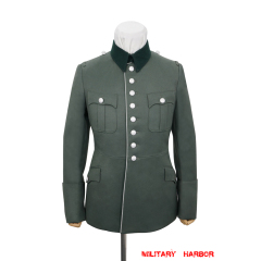 WWII German Heer M27 General Officer Gabardine piped service tunic jacket II