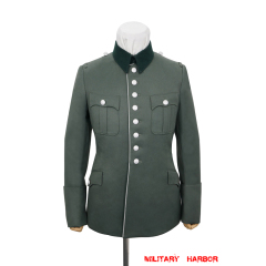 WWII German Heer M27 General Officer Gabardine piped service tunic jacket I