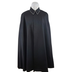 WWII German SS black Gabardine cape