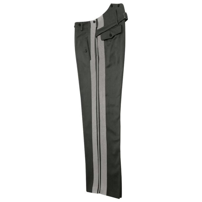 WWII German SS general Stone grey Gabardine straight trousers