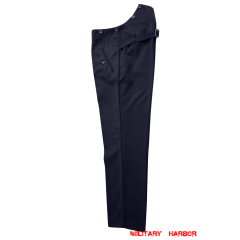 WWII German Kriegsmarine Navy blue Gabardine Straight Trousers