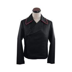 WWII German Heer hot pink collar thread panzer black gabardine wrap jacket