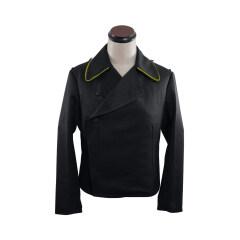 WWII German Heer signal panzer black gabardine wrap jacket