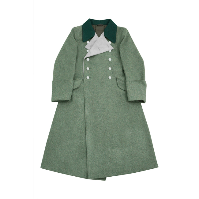 WWII German M40 Allgemeine SS General Wool Greatcoat