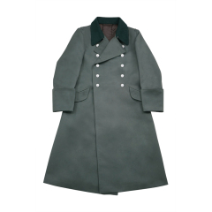 WWII German M40 Waffen SS Officer Gabardine Greatcoat