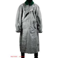 WWII German motorcyclist rubberized raincoat
