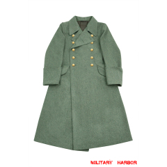 WWII German M40 Kriegsmarine Coastal Officer Fieldgrey wool Greatcoat