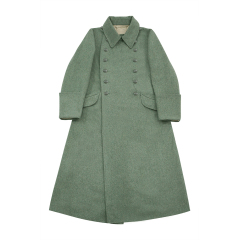 WWII German M40 Kriegsmarine Coastal EM Fieldgrey wool Greatcoat