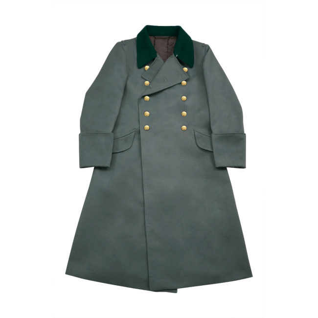 WWII German M36 Kriegsmarine Coastal Officer Gabardine Greatcoat