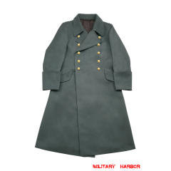 WWII German M40 Kriegsmarine Coastal Officer Gabardine Greatcoat