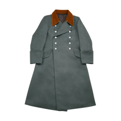 WWII German Police Field Officer Gabardine Greatcoat