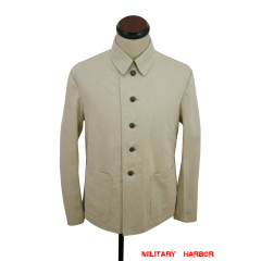 WWII German Summer Heer HBT off-white drill service tunic