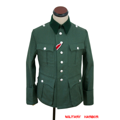 WWII German M36 officer summer HBT reed green field tunic