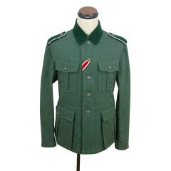 WWII German M36 EM summer HBT reed green field tunic