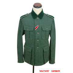 WWII German M36 EM summer HBT reed green field tunic