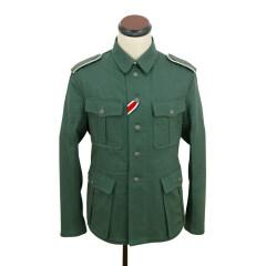 WWII German M40 EM summer HBT reed green field tunic