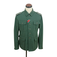 WWII German M41 EM summer HBT reed green field tunic