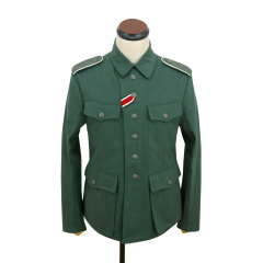 WWII German M42 heer summer HBT reed green field tunic