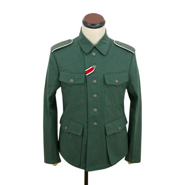 WWII German M42 heer summer HBT reed green field tunic