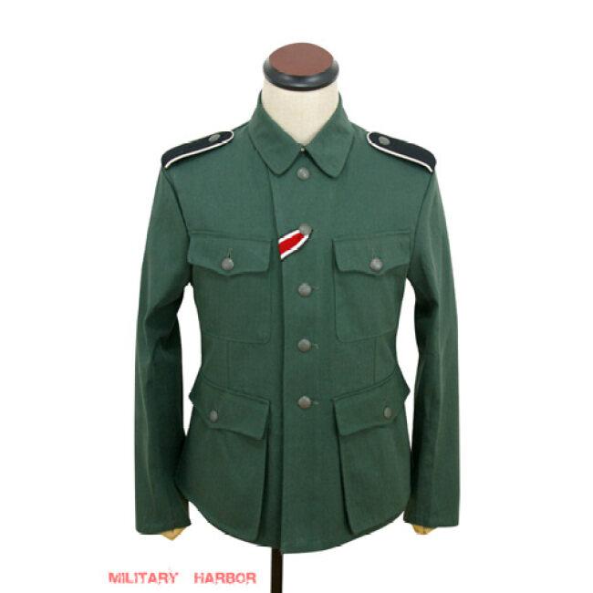 WWII German M42 SS summer HBT reed green field tunic