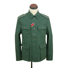 WWII German M43 heer summer HBT reed green field tunic