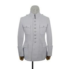 WWII German M29 summer white cotton tunic