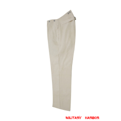 WWII German Summer HBT off-white drill service trousers