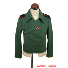 WWII German Heer panzer summer HBT reed green wrap/jacket type I