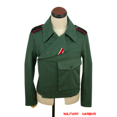 WWII German Heer panzer summer HBT reed green wrap/jacket type II