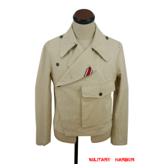 WWII German Heer panzer summer HBT off-white wrap/jacket type II