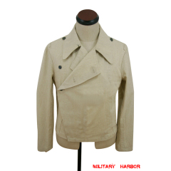 WWII German Heer panzer summer HBT off-white wrap/jacket type I
