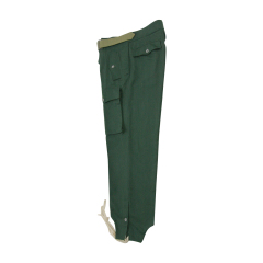 WWII German Heer panzer summer HBT reed green trousers