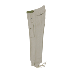 WWII German Heer panzer summer HBT off-white trousers