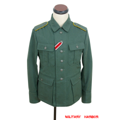 WWII German M41 Summer HBT Luftwaffe reed green tunic