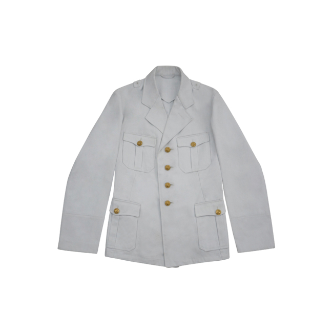 WWII German Kriegsmarine Officer white cotton Jacket tunic