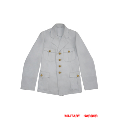 WWII German Kriegsmarine Officer Summer white Jacket tunic
