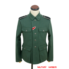 WWII German M42 SS summer HBT reed green field tunic