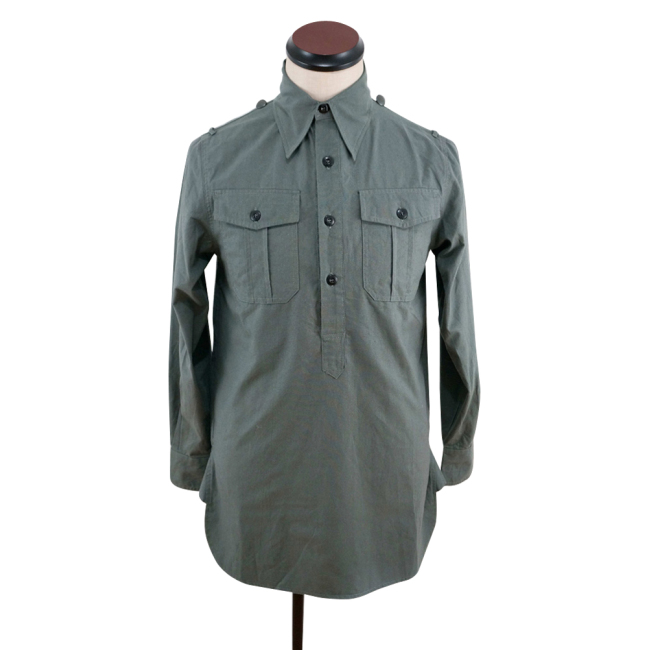 WWII German Heer / SS grey Long Sleeve Service Shirt