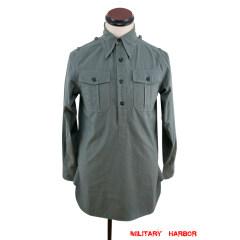 WWII German Heer / SS grey Long Sleeve Service Shirt
