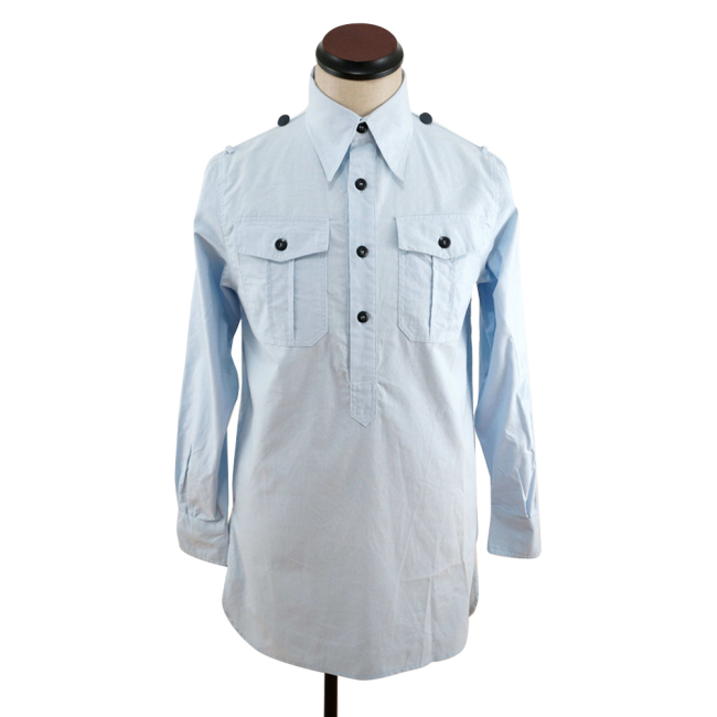 WWII German Luftwaffe Light Blue Long Sleeve Service Shirt