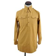 WWII German DAK Luftwaffe Sand Long Sleeve Service Shirt
