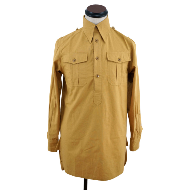WWII German DAK Luftwaffe Sand Long Sleeve Service Shirt
