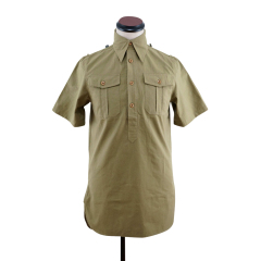 WWII German DAK Heer / SS Brown Short Sleeve Service Shirt