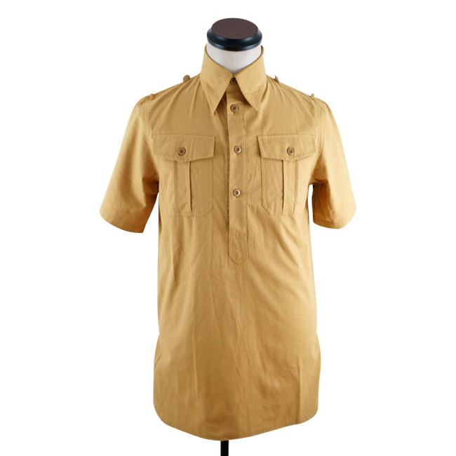 WWII German DAK Luftwaffe Sand Short Sleeve Service Shirt