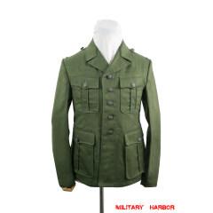 WWII German DAK/Tropical Afrikakorps olive field tunic 1st pattern/M40