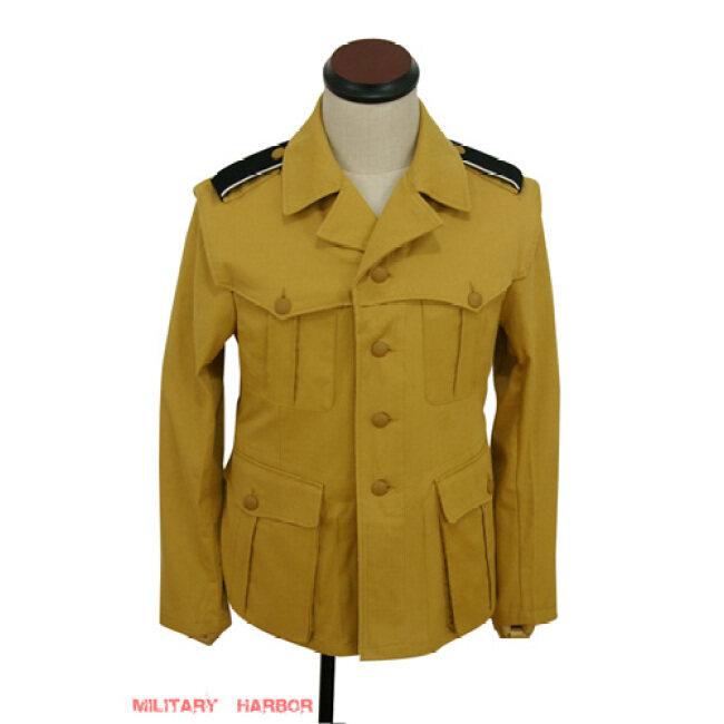 WWII German DAK/Tropical SS sand field tunic 1st pattern - Italian 'SAHARIANA'