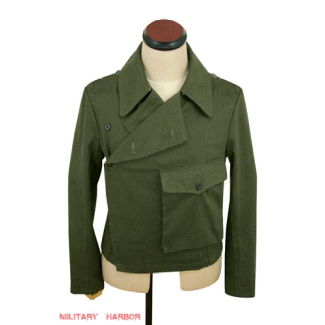 WWII German DAK/Tropical Afrikakorps olivebrown Heer panzer wrap/jacket type II