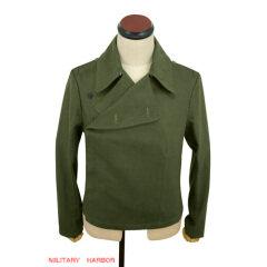 WWII German DAK/Tropical Afrikakorps olivebrown SS panzer wrap/jacket