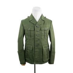 WWII German DAK/Tropical Afrikakorps M40 officer olivebrown field tunic