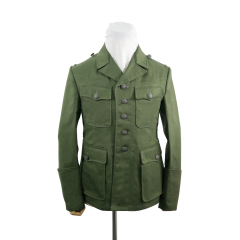 WWII German DAK/Tropical Afrikakorps M42 officer olivebrown field tunic